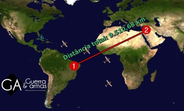 mapa brasil-siria